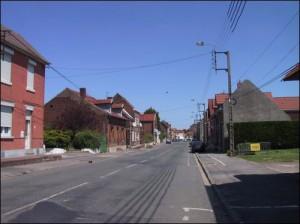 La rue Conde  Loos allant vers l eglise