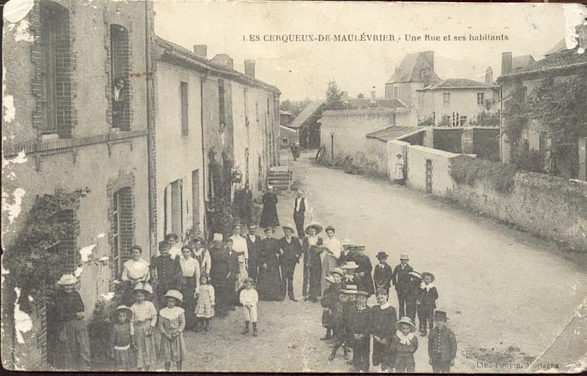 Rue des Cerqueux avant 1914