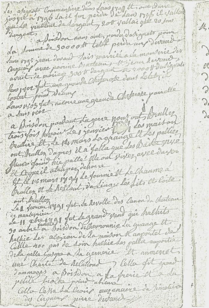 Carnets Pierre Devaud suite de l'historique