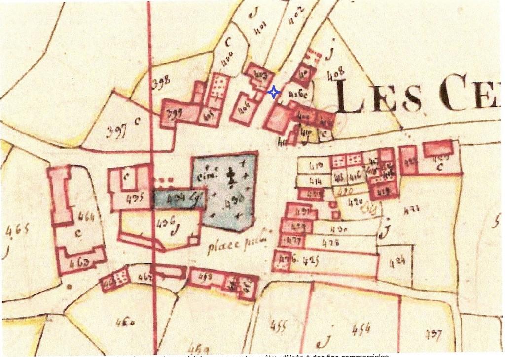 Cadastre 1810 linteau