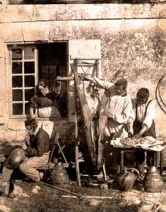 1850_le_depecage_de_porc_par_Louis_Humbert_de_Molard_1847_1898