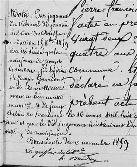 Naiss. St Aubin 1818-1835 Page 109