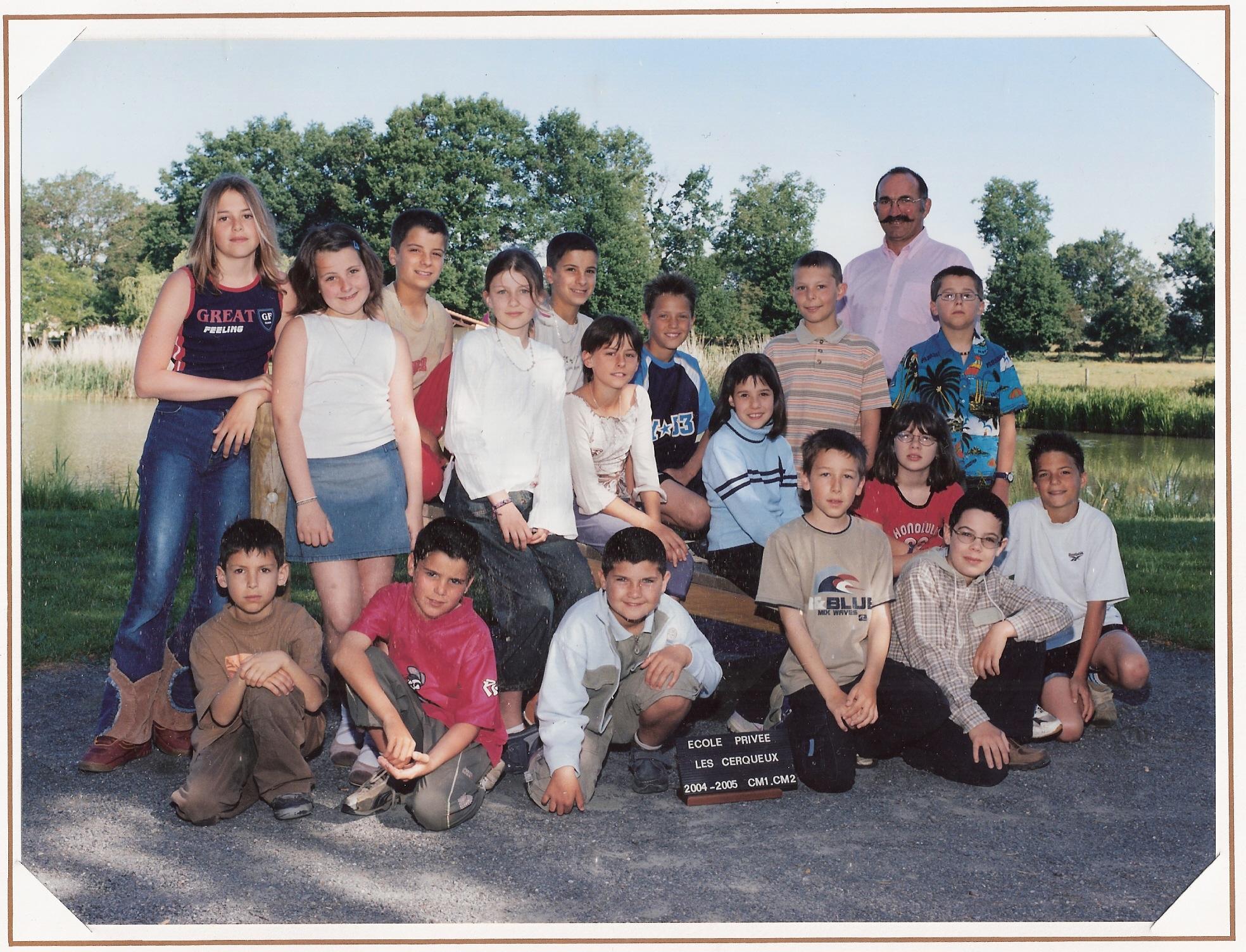 école des Cerqueux 2004-2005
